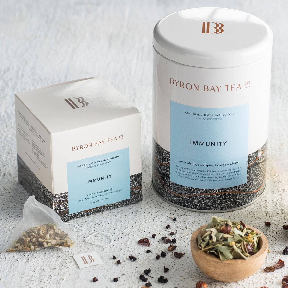 Byron Bay Tea Co Immunity Tea Teabags 40g