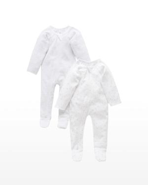 Purebaby 2 Pack Zip Growsuit