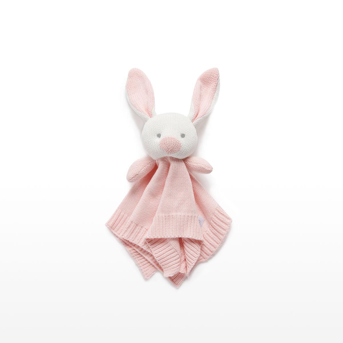 Purebaby Knitted Rabbit Comforter 35 x 35cm