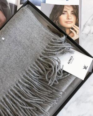 YPL Alpaca Wool Scarf Grey 200 x 70cm