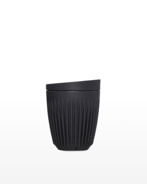 Huskee Reusable Coffee Cup Charcoal 8oz/237mL   Waste Made Beautiful