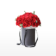 Large bouquet of 52 premium red roses arranged in a cylinder gift box